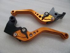 Triumph SPEED FOUR (03-04), CNC levers short orange/black adjusters, F14/T955